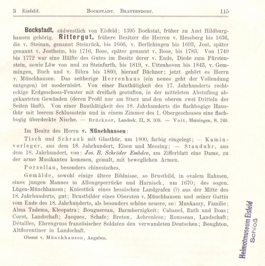 Ortsbeschreibung von 1853