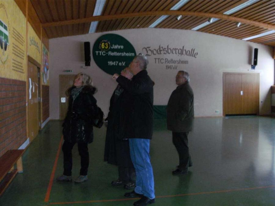 Besichtigung der Bocksberghalle in Rettersheim