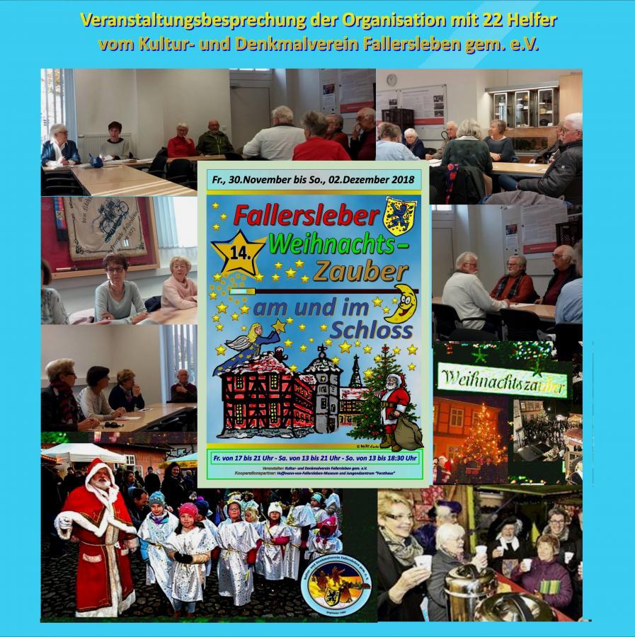 Besprechung für den 14.Weihnachtszauber 2018
