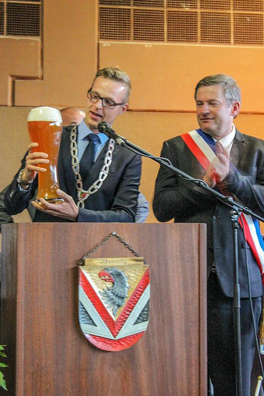 Die Bürgermeister aus Dormitz und Clairoix
