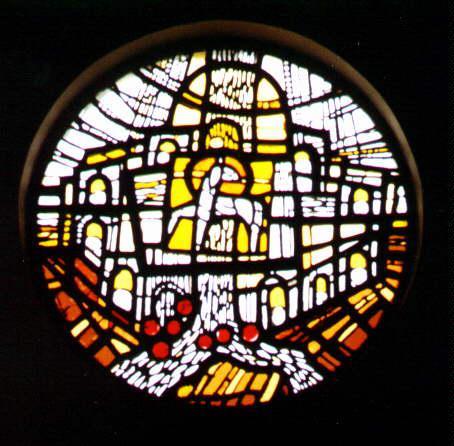 Betonglasfenster in der Friedhofskapelle