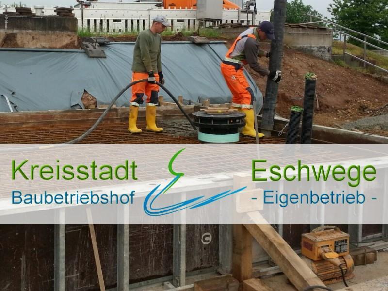 Betonierungsarbeiten in unserem Zentralklärwerk