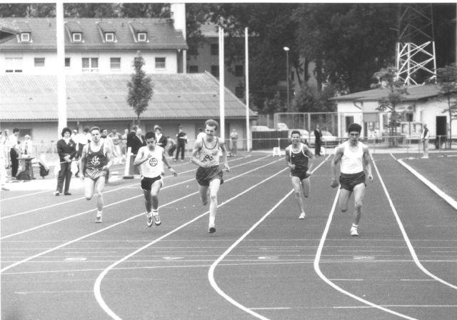 1989: Finale 100m Jens Neumann (3.v.l)
