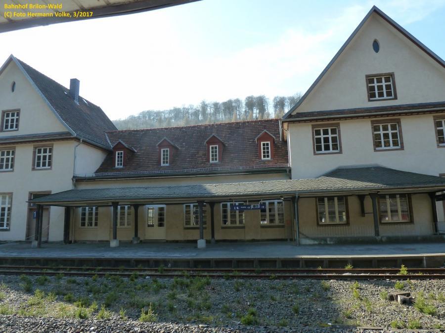 Bahnhof Brilon Wald - Gleiseite