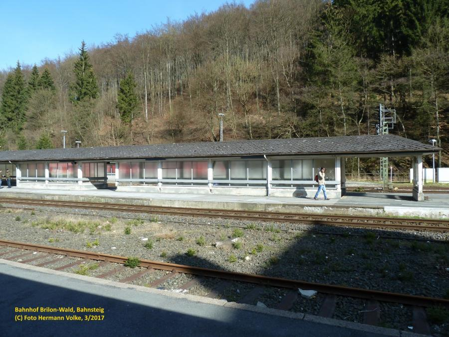Bahnhof Brilon Wald - Bahnsteig