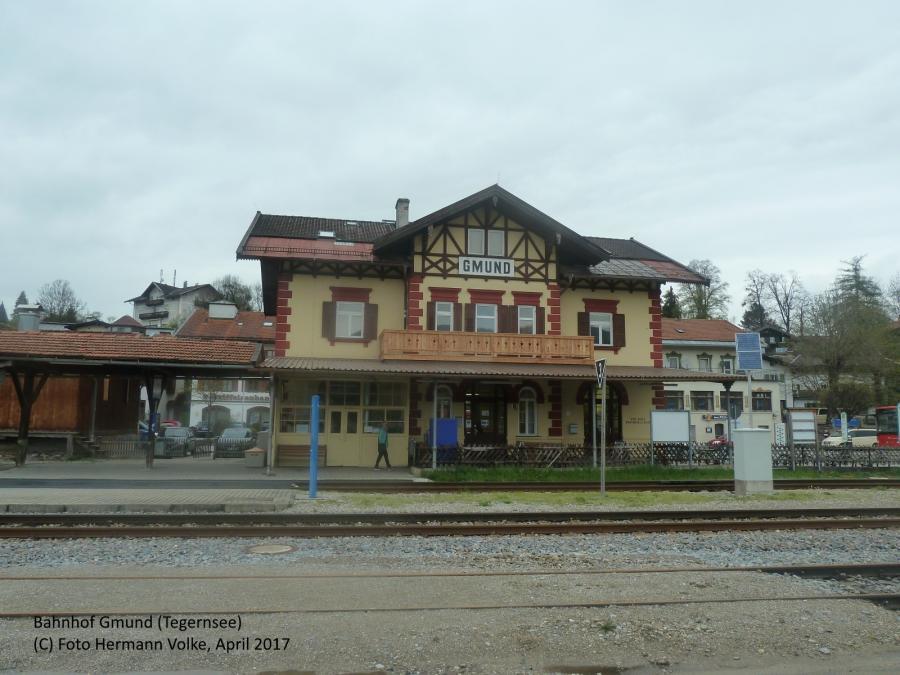 Bahnhof Gmund (Tegernsee) Gleisseite 2017