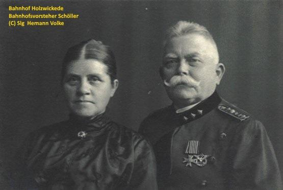 Ehepaar Schöller, Herr Schöller war von 1906 bis 1908  Stationsvorsteher in Holzwickede