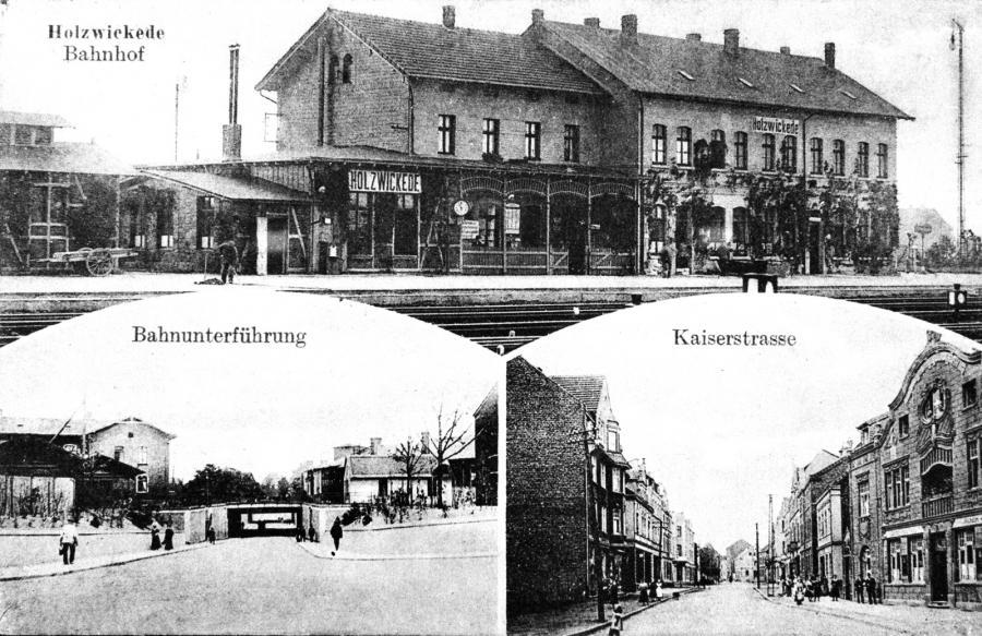 Ansichtskarte mit Bahnhof ca. 1912