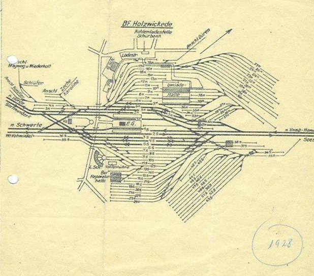 Lageplan von 1928