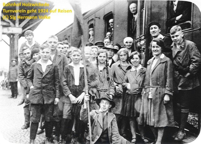 der Turnverein aus Holzwickede geht am 09.05.1929 auf Reisen