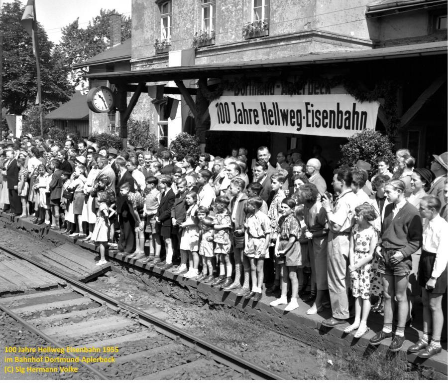 100 jähriges Jubiläum der Strecke Dortmund-Soest im Jahre 1955
