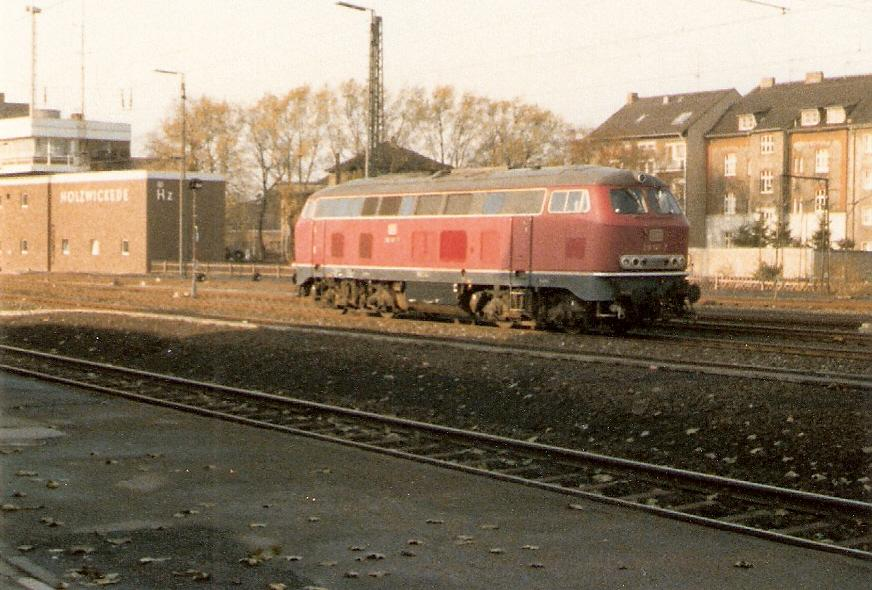 BR 218 in Holzwickede 1980
