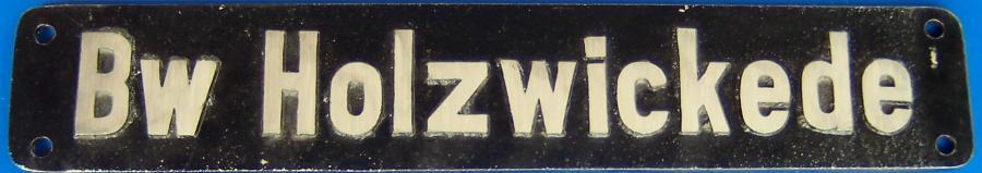 Dieses Schild befand sich an allen in Holzwickede stationierten Lokomotiven