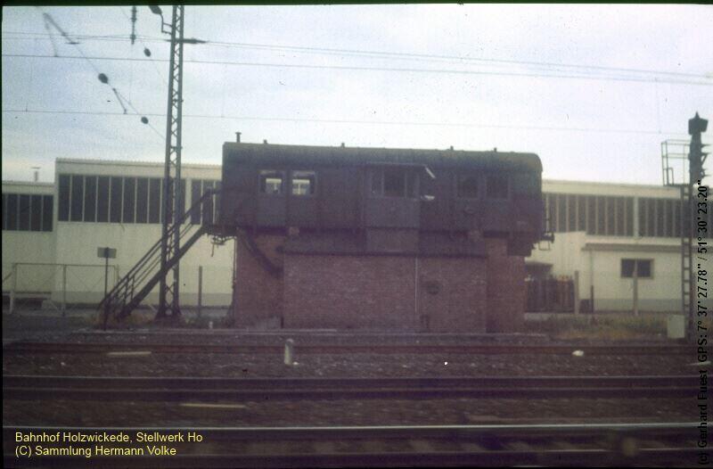 Das ehemalige Stellwerk Ho, in einem alten Wagenkasten
