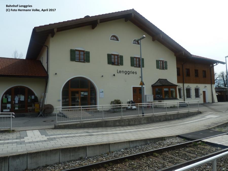 Bahnhof Lenggries (Gleisseite) 2017