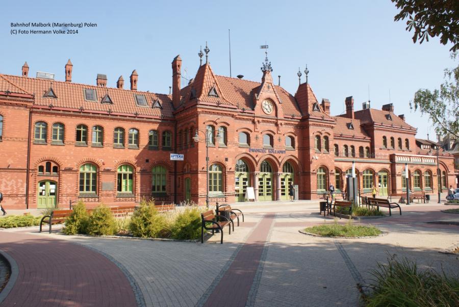 Bahnhof Malbork (Marienburg) 2014