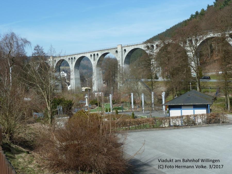 Viadukt am Bahnhof Willingen