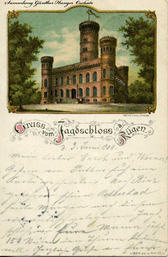 Gruss vom Jagdschloss a Rügen