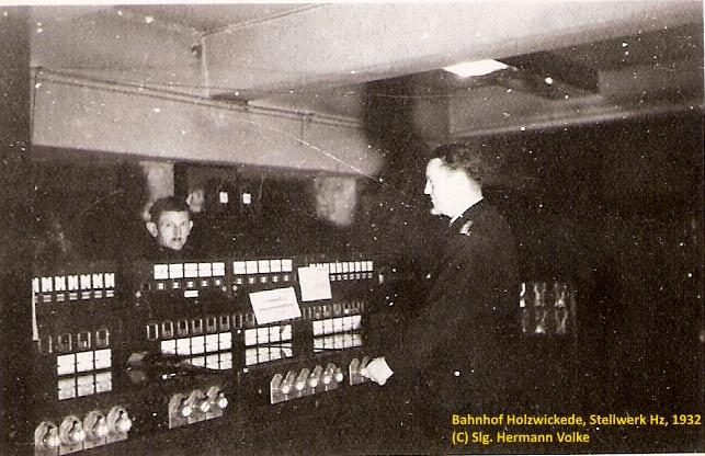 Bilder aus dem Jahre 1932 vom Fahrdienstleiter Stellwerk Hz