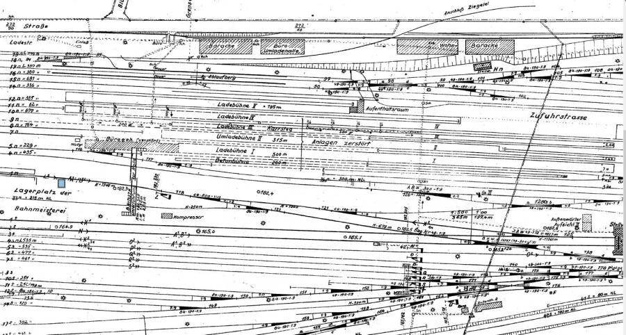 Gleisplan der Umladehalle