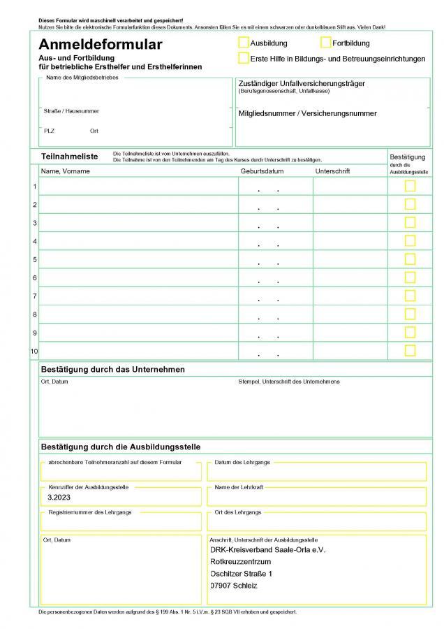 BG Formular NEU