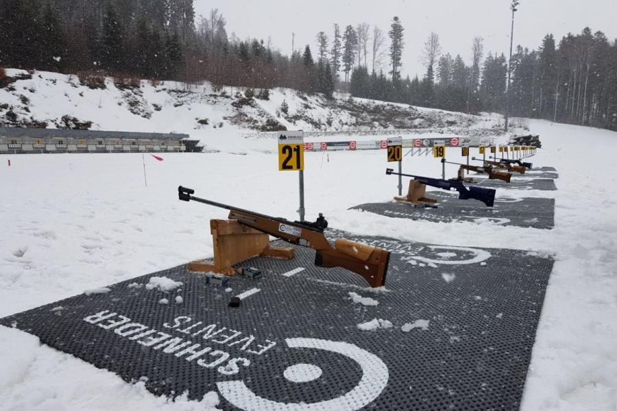 Biathlon-Schnuppern im Hohenzollern Skistadion am Großen Arbersee