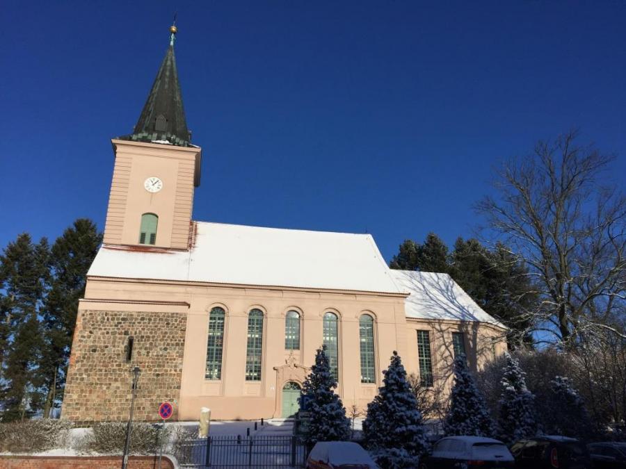 Biesenthaler Kirche im Winter