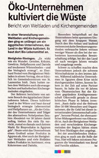 Bietigheimer Zeitung vom 05.12.2015