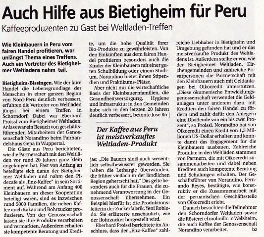 Bietigheimer Zeitung vom 07.09.2016