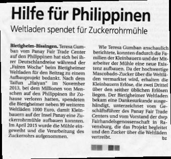 Bietigheimer Zeitung vom 18.09.2015