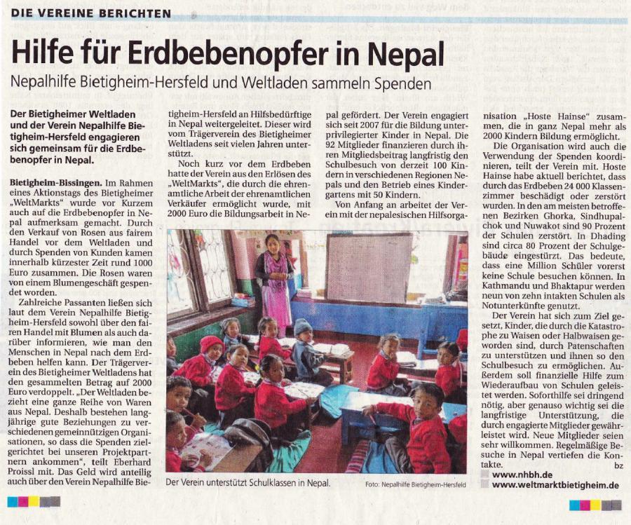 Bietigheimer Zeitung vom 21.05.2015