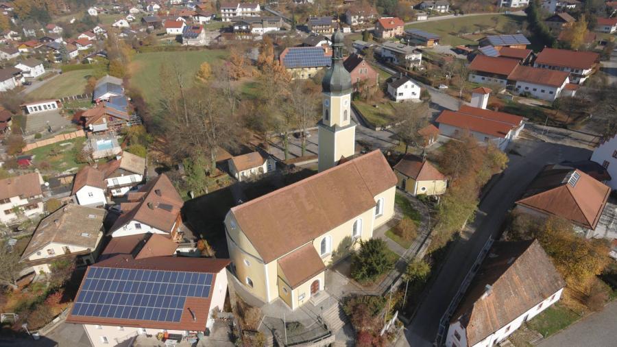 Luftaufnahme Kirche Blaibach