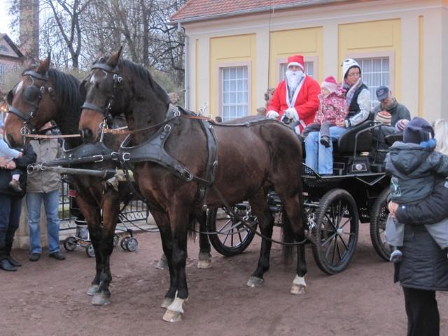 Kutschfahrten mit dem Weihnachtsmann