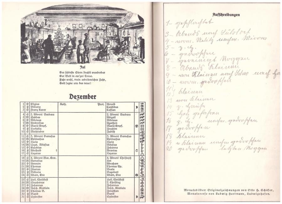1927 aus dem Kalender ''Scholle und Kraft'