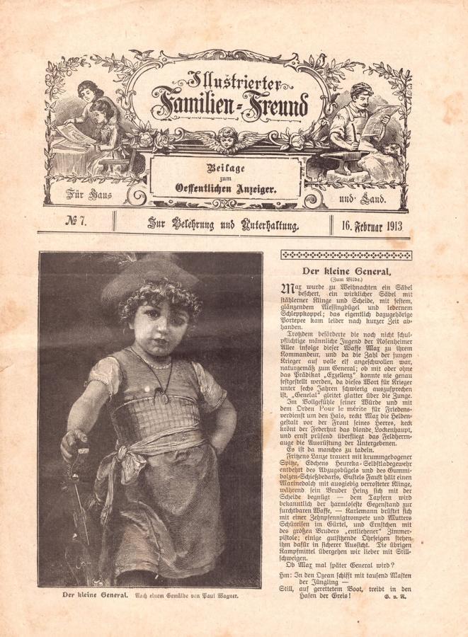 Illustrierter Familien-Freund 16. Februar 1913