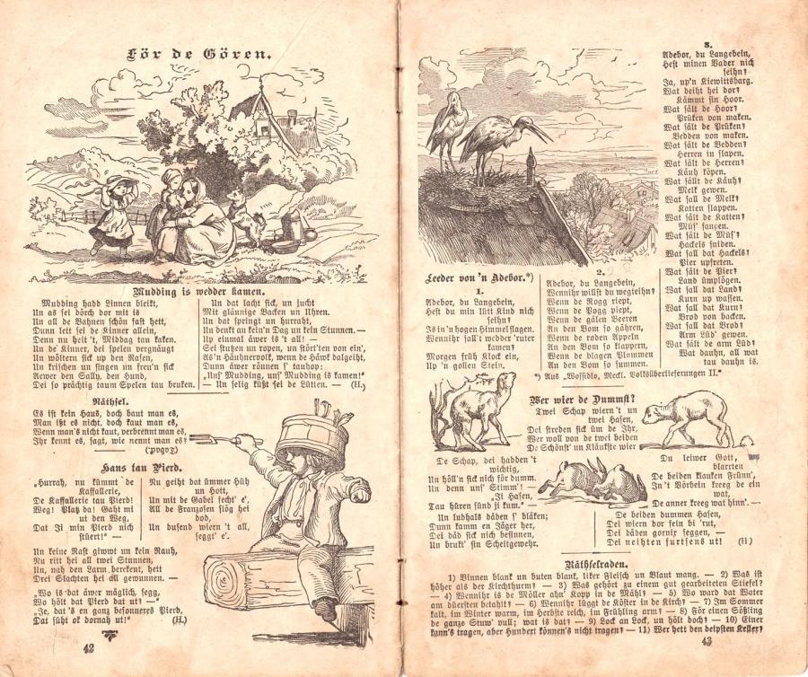 Kalender von 1900