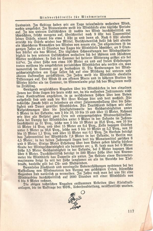 aus einem Kalender von 1930