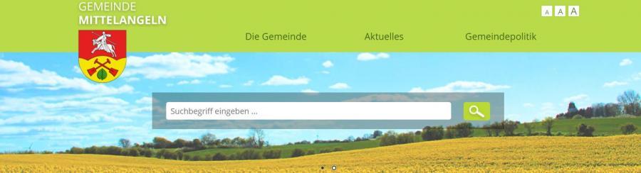Internetseite der Gemeinde Mittelangeln