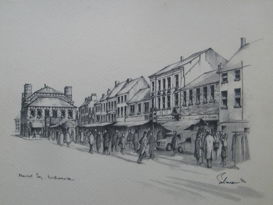 High Street und Town Hall in Northallerton