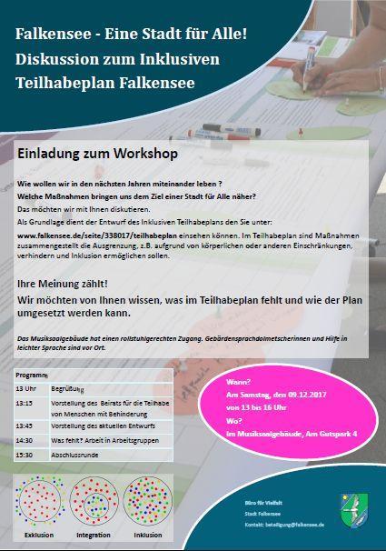 Plakat zum Workshop