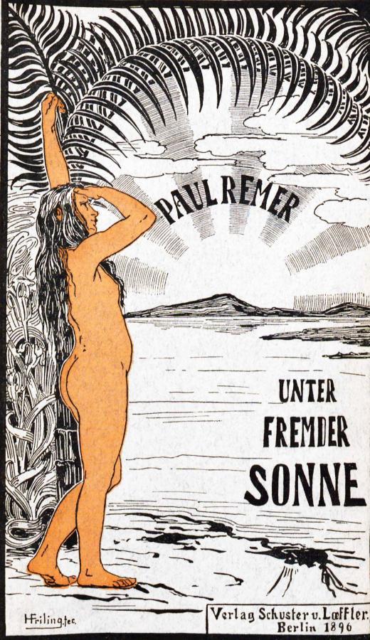 """Buchcover """"Unter fremder Sonne"""" von Paul Remer, Verlag Schuster & Loeffler, 1896"""