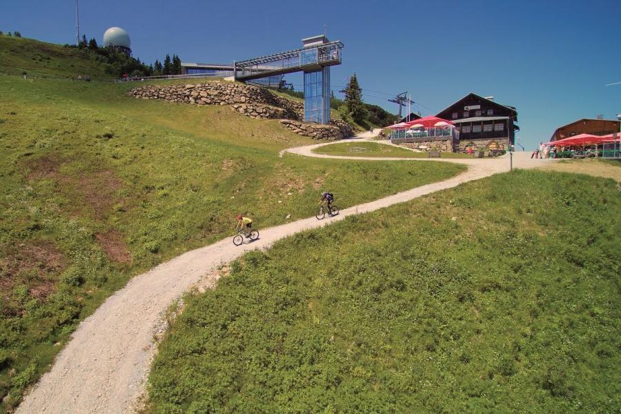 Mountainbike- Abfahrt am Großen Arber