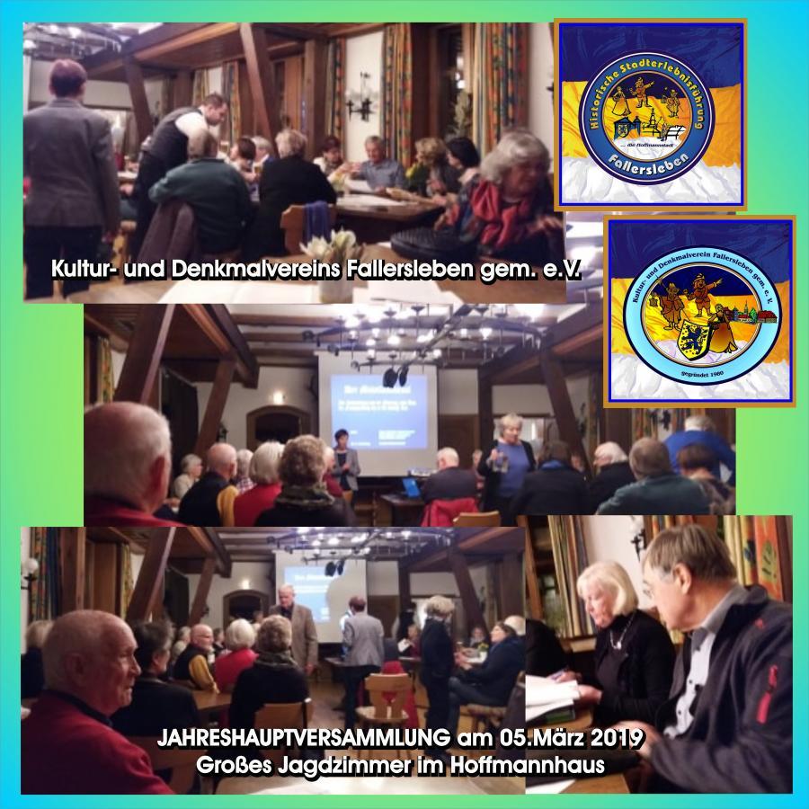 Fotocollage von der Jahreshauptversammlung des Kultur- und Denkmalvereins Fallersleben