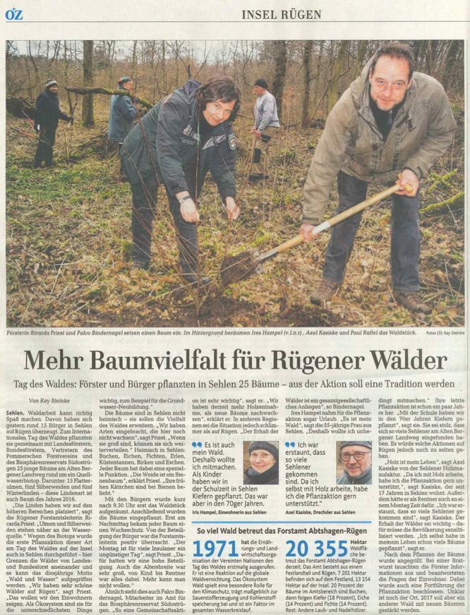 Pressemitteilung der Ostseezeitung