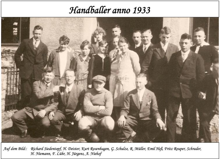 Handballer 1933
