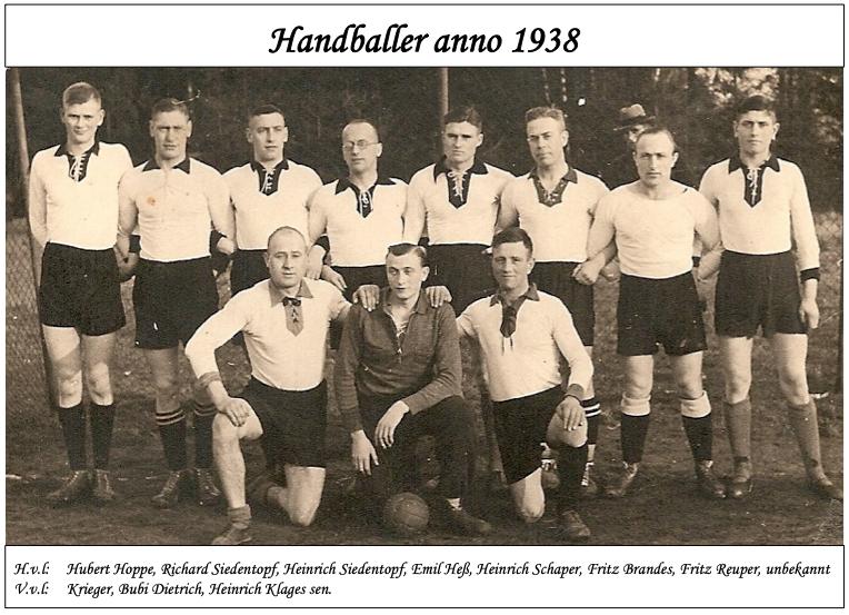 Handballmannschaft von 1938