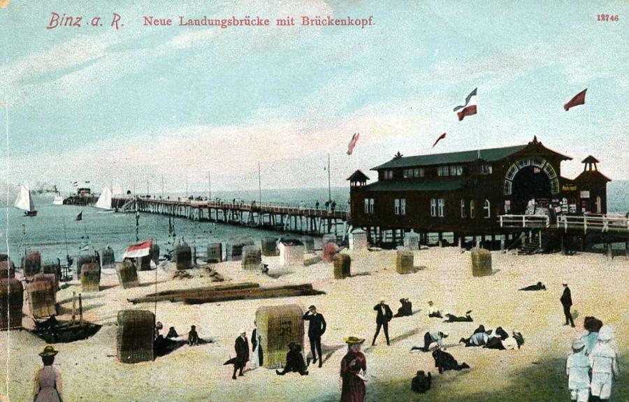 Binz a. R. Neue Landungsbrücke mit Brückenkopf