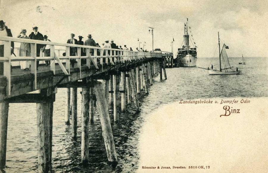 Binz Landungsbrücke u. Dampfer Odin