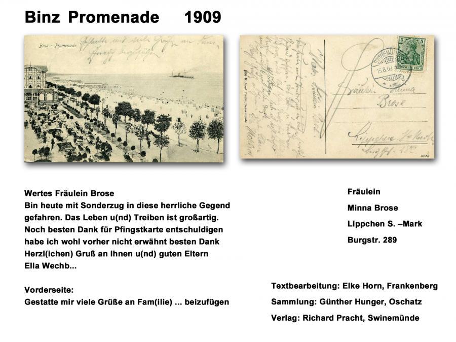 Binz Promenade 1909