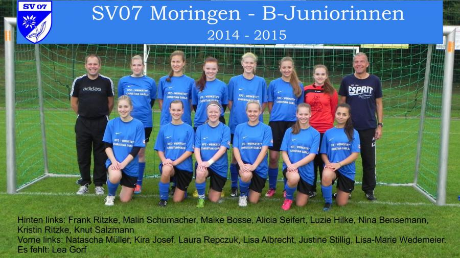 B-Juniorinnen 2014-2015